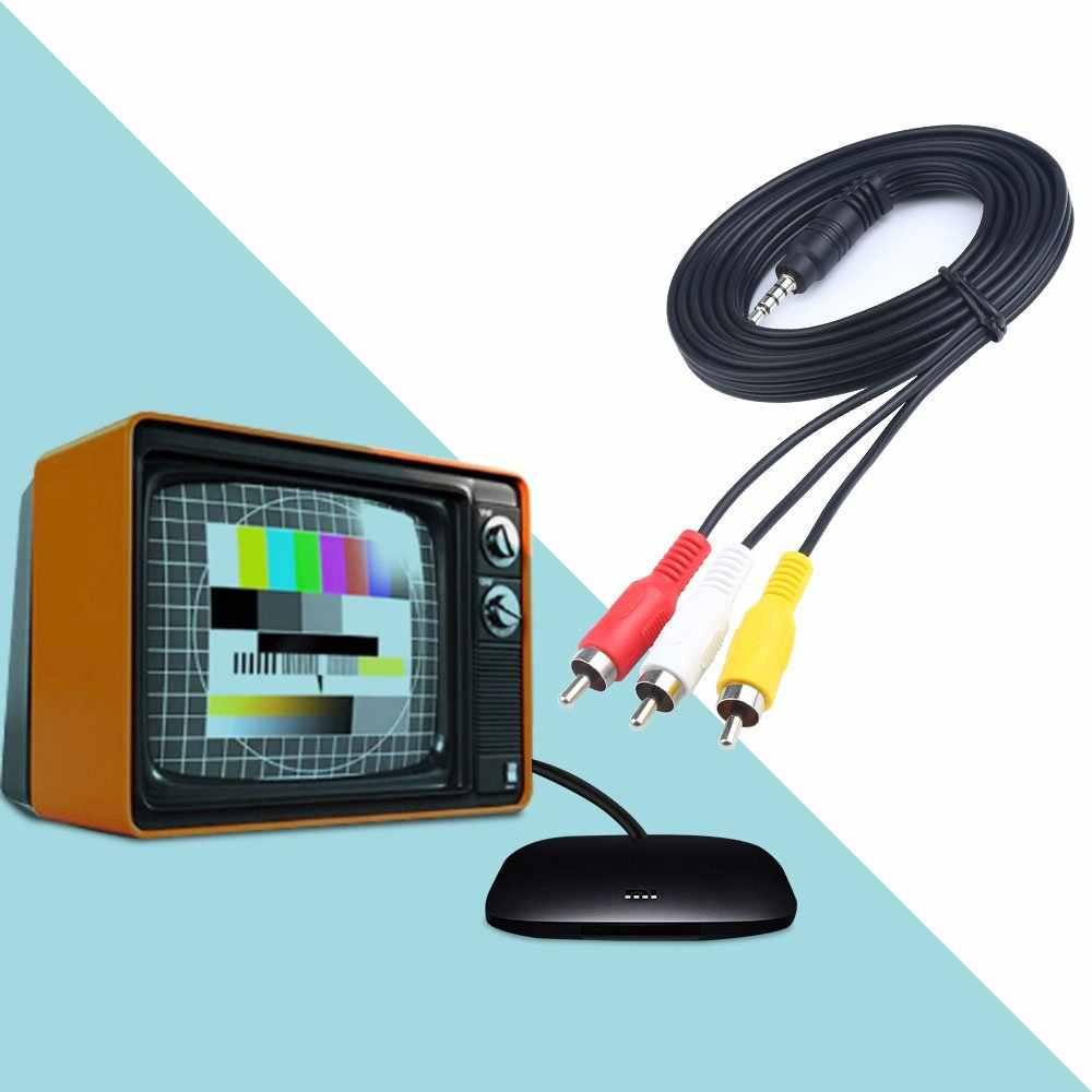 Electop 1.5 متر 3.5 مللي متر جاك التوصيل ذكر إلى 3 RCA محول AUX كابلات 3.5 إلى RCA ذكر الصوت والفيديو AV سلك كابل الحبل ل مرحبا فاي ستيريو
