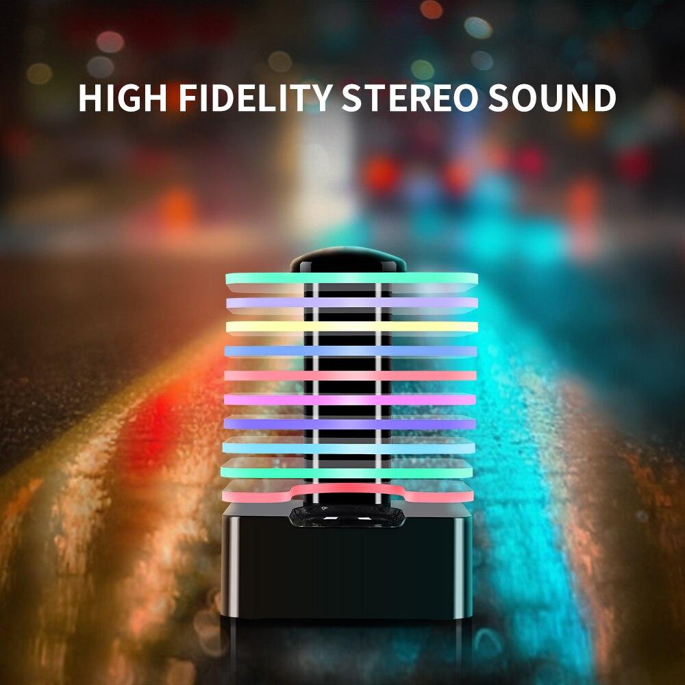 LED lumière progressive tour carrée magique sans fil Bluetooth haut-parleur Portable lueur Support TF carte jouer Bluetooth haut-parleur