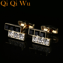 New Luxury French Cuff Buttons Crystal Shirt link for Mens Wedding Gift High Quality Cufflinks Brand Fashion Jewelry