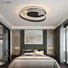 Modern Ceiling Lights LED Lamp For Living Room Bedroom Study Room White black color surface mounted Ceiling Lamp Deco AC85-265V