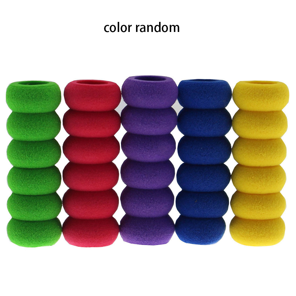 10pcs Foam Pen Handwriting Eco-friendly Cap Ridged Grips Hand Protection Non Slip Lightweight Non-toxic Pencil