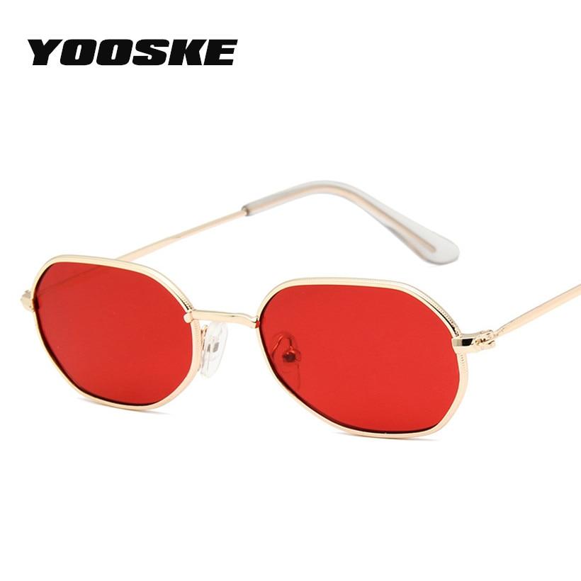 Detalle Comentarios Preguntas sobre YOOSKE poligonal gafas de sol de la  marca de lujo de las mujeres Vintage de Metal d561279f6f8d