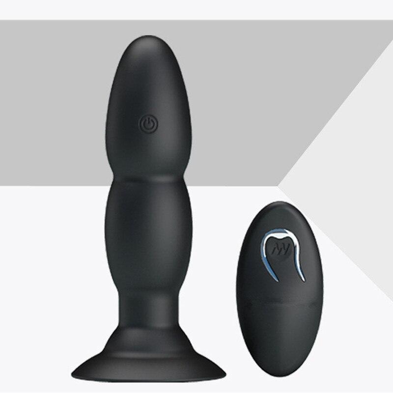Vibrateurs anaux rotatifs de contrôle sans fil de sexe vibromasseur de gode de godemichet Anal pour les hommes de femmes