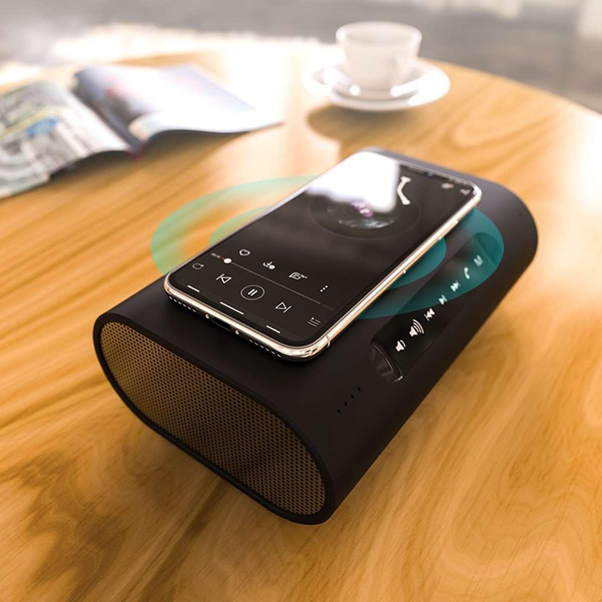 Chargeurs de téléphone portable sans fil bluetooth haut-parleur tactile écran batterie externe pour Samsung pour iPhone 8 8 P X Xs Max