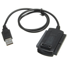 2.5/3.5 Hard Drive HD HDD Adapter Connector USB2.0 To IDE SATA Converter Cables Three used UK Electronic Accessories