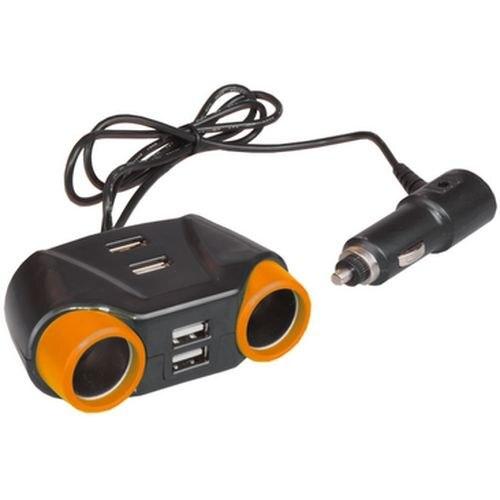 Lighter socket Splitter 12-24 V, 2 outlet + 4 USB SKYBEAR lighter socket splitter 12 24 v 2 outlet 4 usb skybear