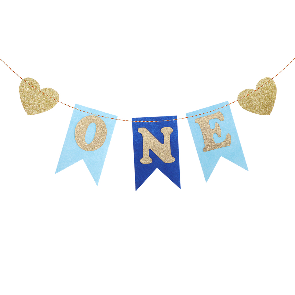 Birthday Banners Fabric Bunting Flags