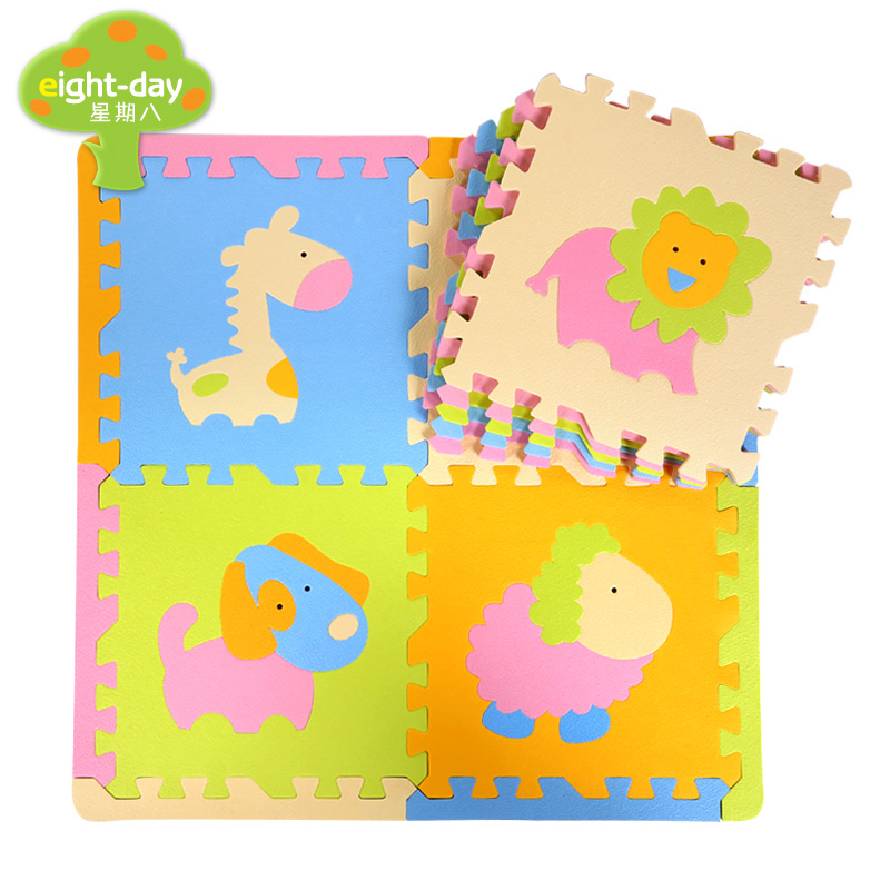 9 pcs animaux tapis de mousse animaux tapis de jeu ensembles bébé maison tapis de jeu enfants jouer Puzzle tapis 9 pièces chaque ensemble