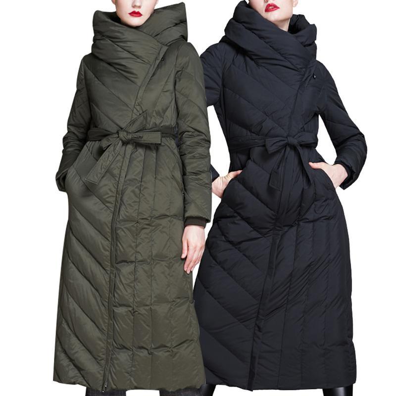 Mode Femmes Vers army Black À montage De La Bas Hiver Veste Bien Manteau Le Longue Green nw1t8q4x0B