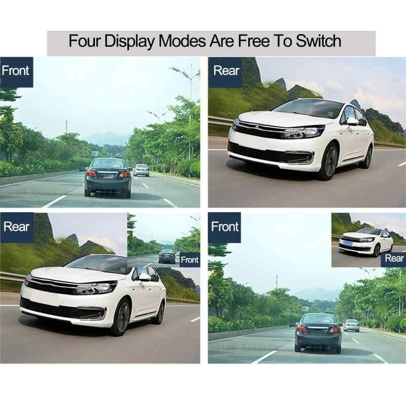 HD 4 дюйма с двойным объективом 1080P Скрытая широкоугольная камера для вождения видеорегистратор с двумя объективами Автомобильный видеорегистратор камера с поддержкой заднего хода