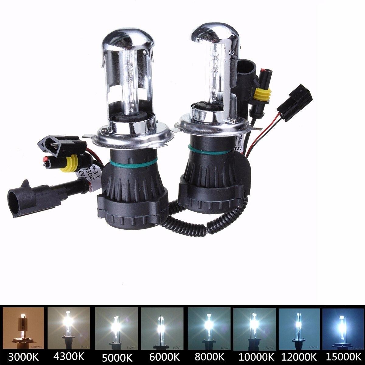 2 pièces H4 35W HI/LO faisceau lampe de voiture bi-xénon pour HID phare Kit de Conversion phare ampoule