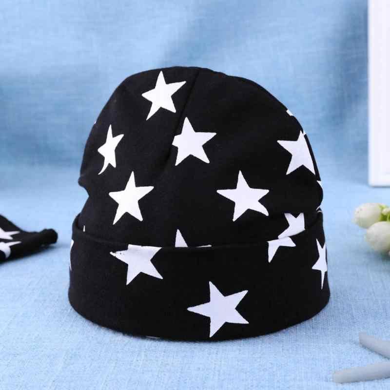 การ์ตูนหมวกถักเด็กดาวเด็กฤดูใบไม้ร่วงฤดูหนาว Warm หมวกพิมพ์หมวกผ้าพันคอชุดสาว Boy Beanie ถ่ายภาพเด็ก props