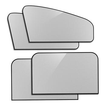 4PCS Car Window Sunshade ครีมกันแดดรถหน้าต่าง Shade หลายชั้น Sun-proof, ฉนวนกันความร้อนที่มีประสิทธิภาพป้องกันแสง