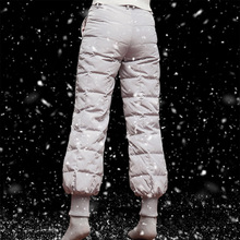 цены M-5XL Plus Size Winter Women White Duck Down Bloom Pants Outdoor Men Warm Waterproof Windproof Trekking Hiking Camping Trousers