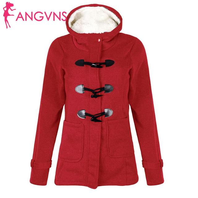 ANGVNS Women Overcoat Autumn Hooded Coat  Fashion Long Sleeve  Zipper Casual Regular Buckle Pockets Outwear  3