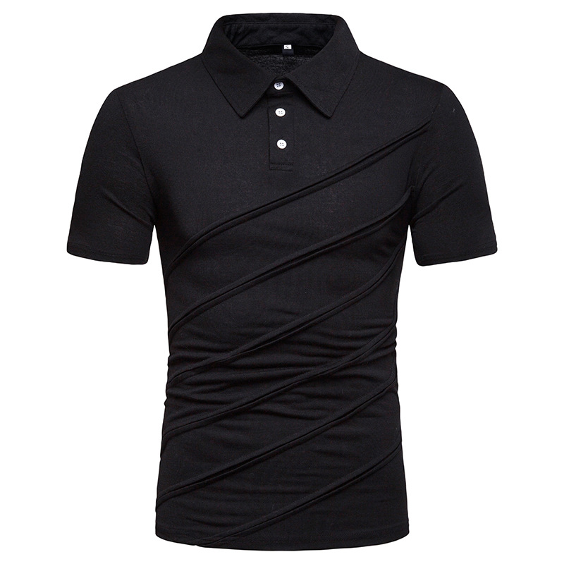 2019 New Fashion   Polos   for Men Slim Fit Trending Tops Street Wear Solid Color Short Sleeve Casual   Polo   Men Clothes S-XXL