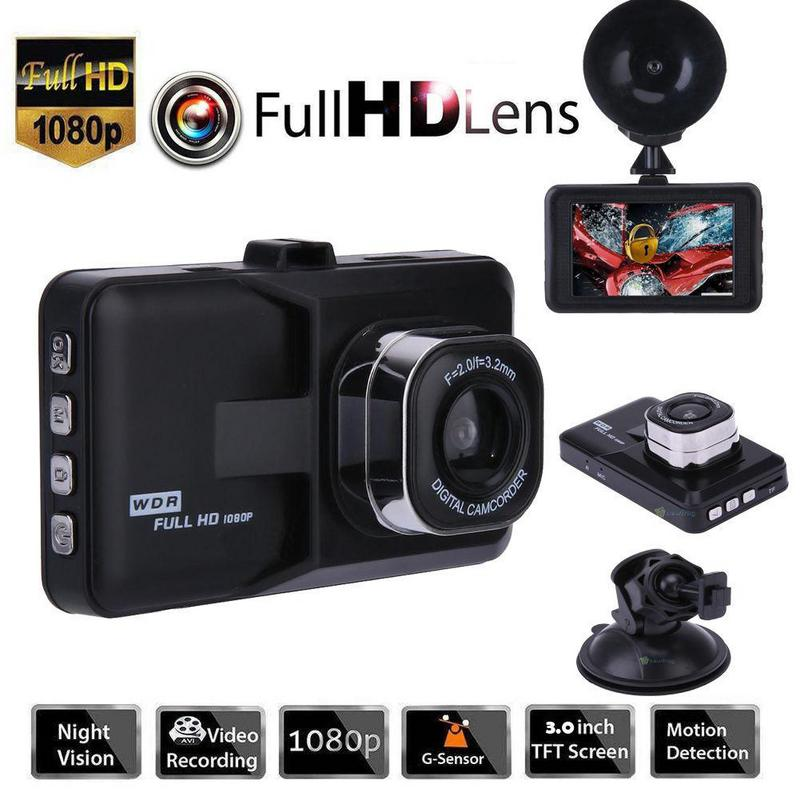 careslong 3 Inch Full HD 1080P Car Camera With Motion Detection Night Vision