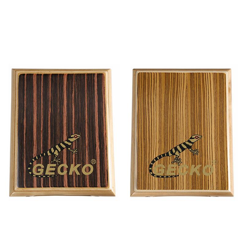 Gecko Pattern Wooden Pat Box Drum Travel Percussion Instrument