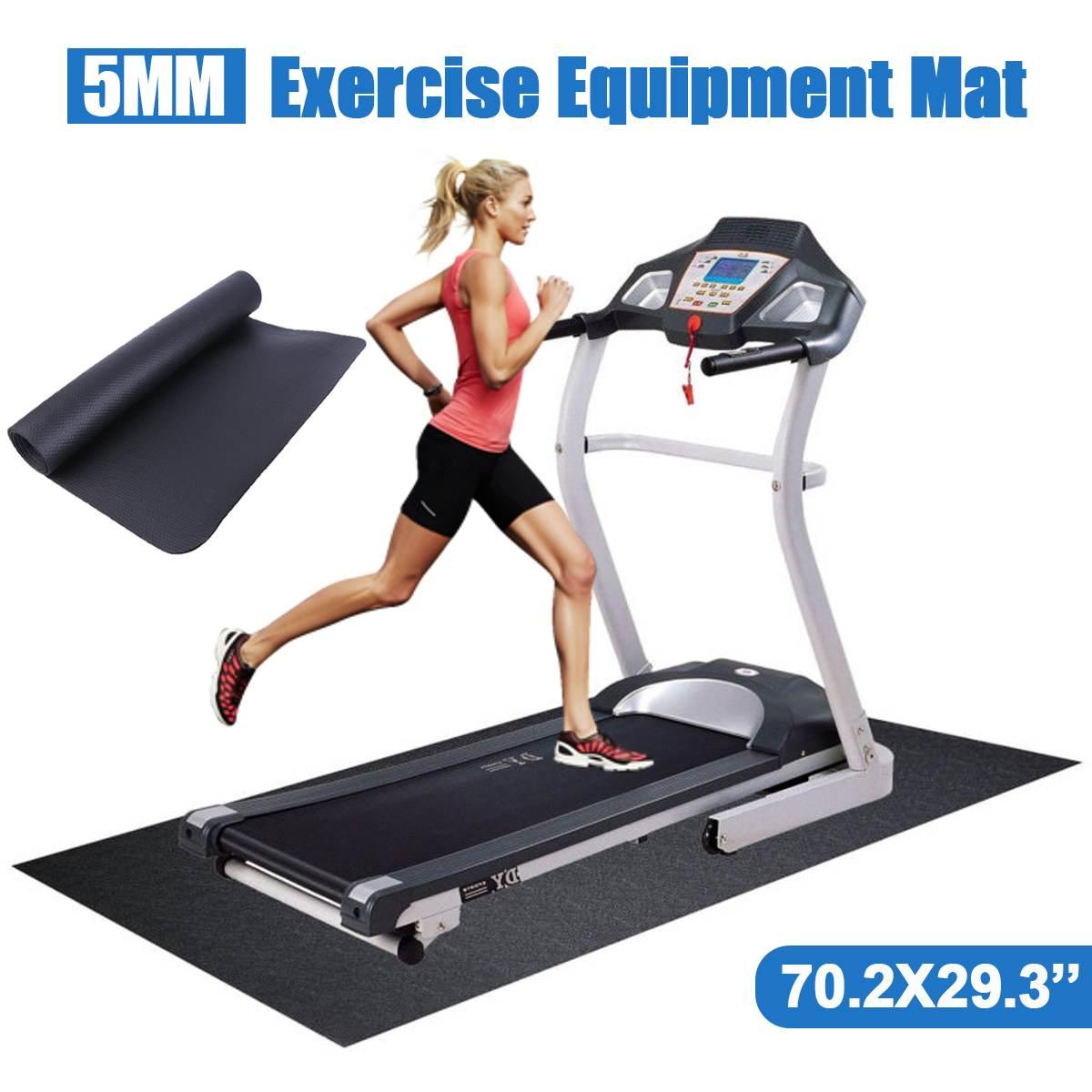 180x75cm NBR Exercise Mat Gym Fitness Equipment For Treadmill Bike Protect Floor Mat Running Machine Shock Absorbing Pad Black