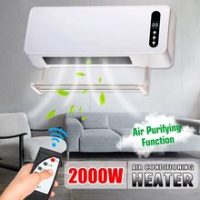2000W Warm Cool Dual Use Wall Mounted Heater Timing Space Heating Air Conditioner Air Purification Ultra-wide PTC heater