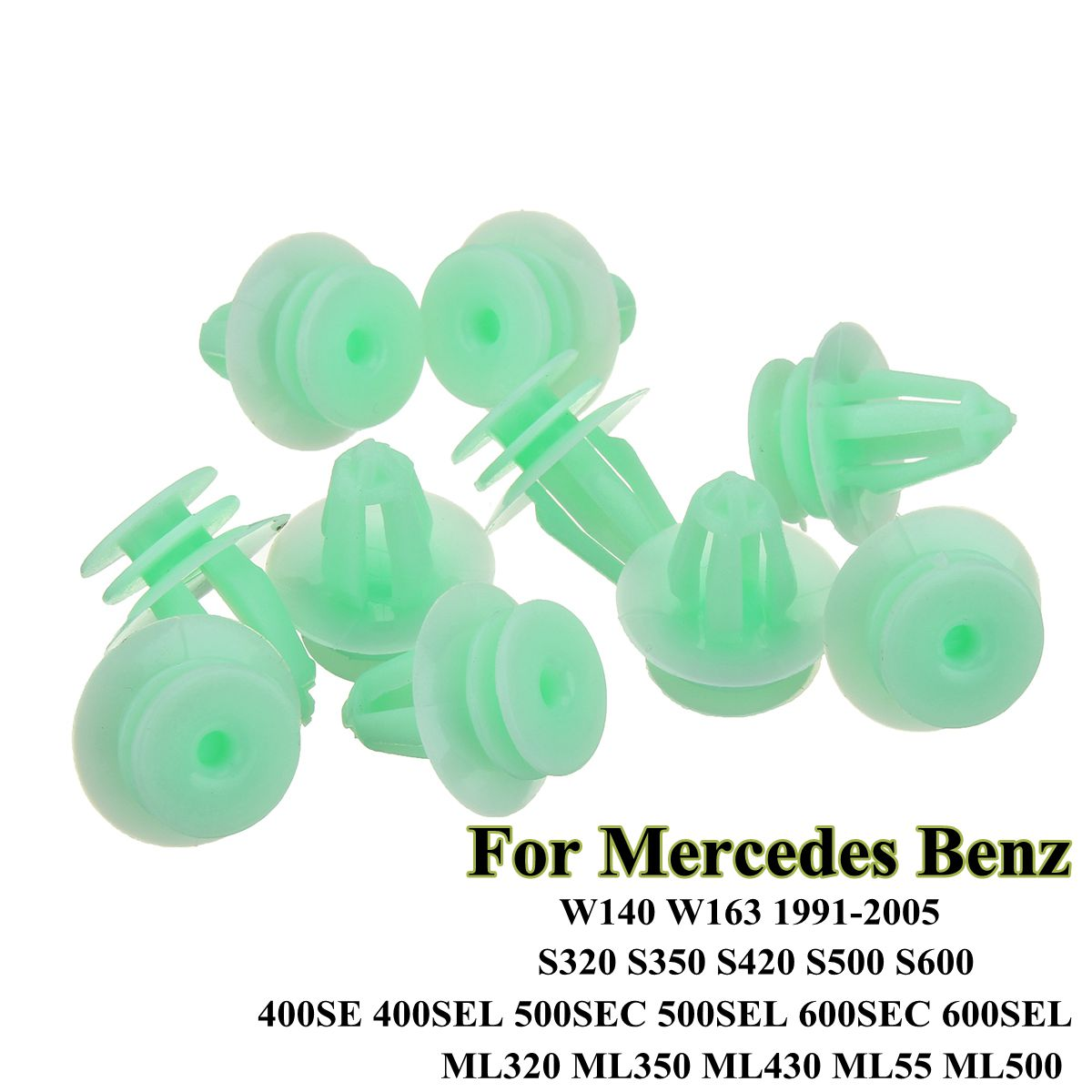 beler Nylon Door Trim Panel Clips for Mercedes Benz W140 W163 S320 S350 400SE S420 S500 S600 ML320 Pack of 50