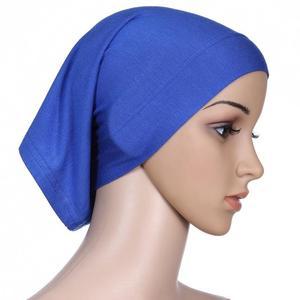 Image 5 - Muslim Women Head Scarf Cotton Underscarf Stretch Hijab Cover Headwrap Underscarf Cap Shawl Islam Scarf Inner Headband Bonnet