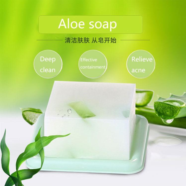 Aloe Handmade Soap 100g Aloe Vera Oil Soap Whitening Moisturizing Skin Cleansing Handmade Soap Moisturizing Skin Fade Spots