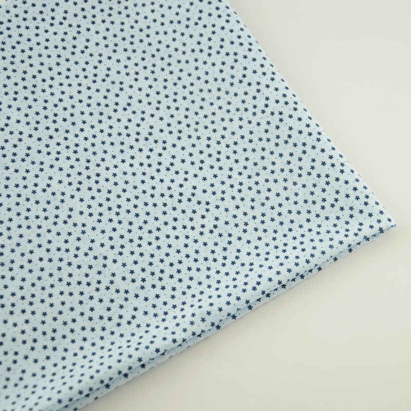 100% Light Blue Cotton Fabric Tecido Plain Patchwork Home Textile Sewing Scrapbooking Doll Lovely Stapelia Designs Decoration