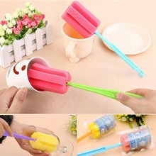 New Environmental Cleaning Brushes For Glass Milk Bottle Family Use Glasses Sponge Cup Brush WXV Sale недорого