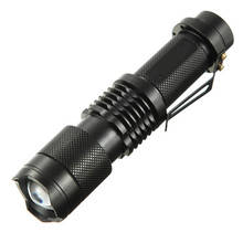 T6 18650 1600LM мини-фонарик 5 режимов Алюминий сплав Открытый Масштабируемые Портативный свет Батарея высокое Мощность карманные фонарики
