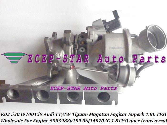 K03 53039700159 53039880159 06J145702G Turbo For AUDI TT For Volkswagen VW Tiguan Magotan Sagitar Skoda Octavia Superb 1.8L TFSI