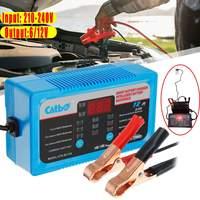 Car Battery Charger 6V 12V Full Automatic Intelligent Trickle Fast Van Charging 6V/12V Lead Acid Battery EU/UK/AU Plug LCD