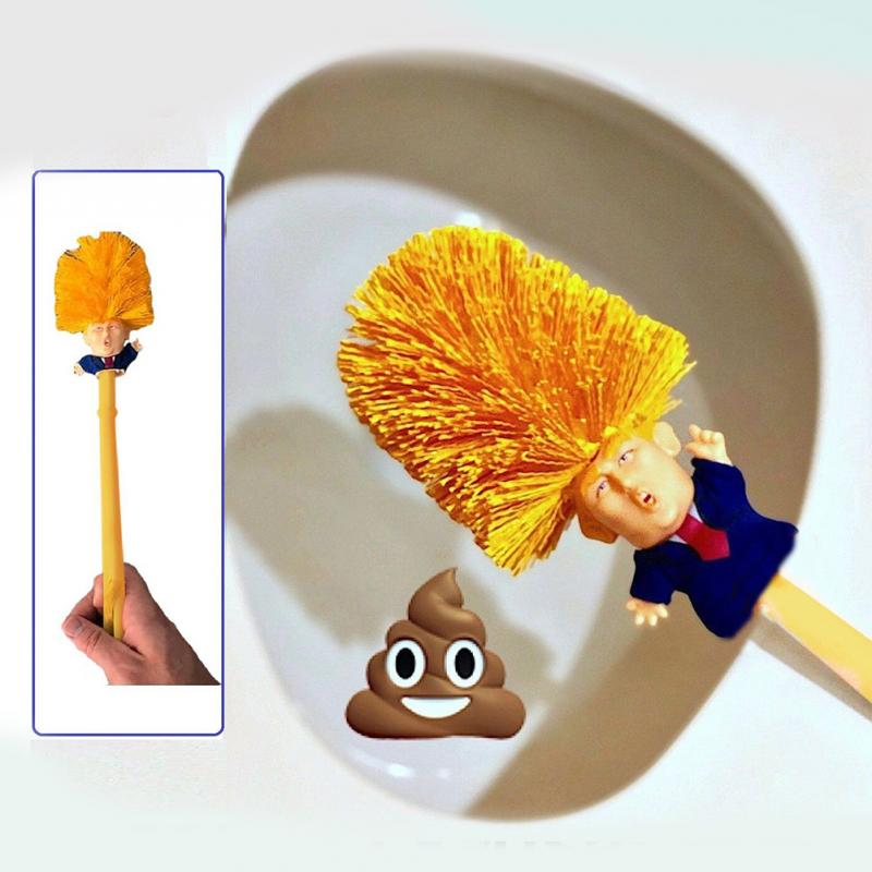 NEW Creative Funny Toilet Brush Cleaning Tool Set