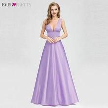 f5f191fc9 Vestidos De Noche bonito 2019 elegante con cuello en V De imperio  piso-longitud sin mangas Simple Formal vestidos fiesta vestido.