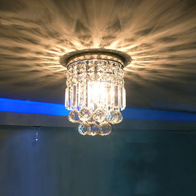 Crystal ceiling light For Living room Home Bedroom Corridor Balcony LED E14 Bulbs Included Small size Diameter20cmCrystal ceiling light For Living room Home Bedroom Corridor Balcony LED E14 Bulbs Included Small size Diameter20cm