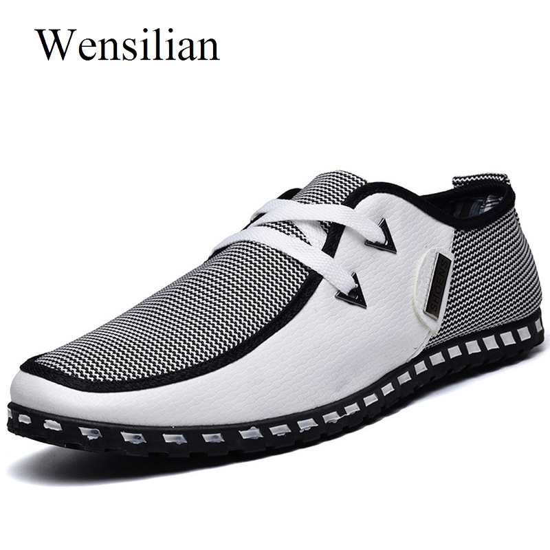 Summer Loafers Men Casual Shoes Fashion Slip On Sneakers Men Flats Driving Shoes PLUS SIZE 38-47 Trainers Zapatos Hombre Casual 1