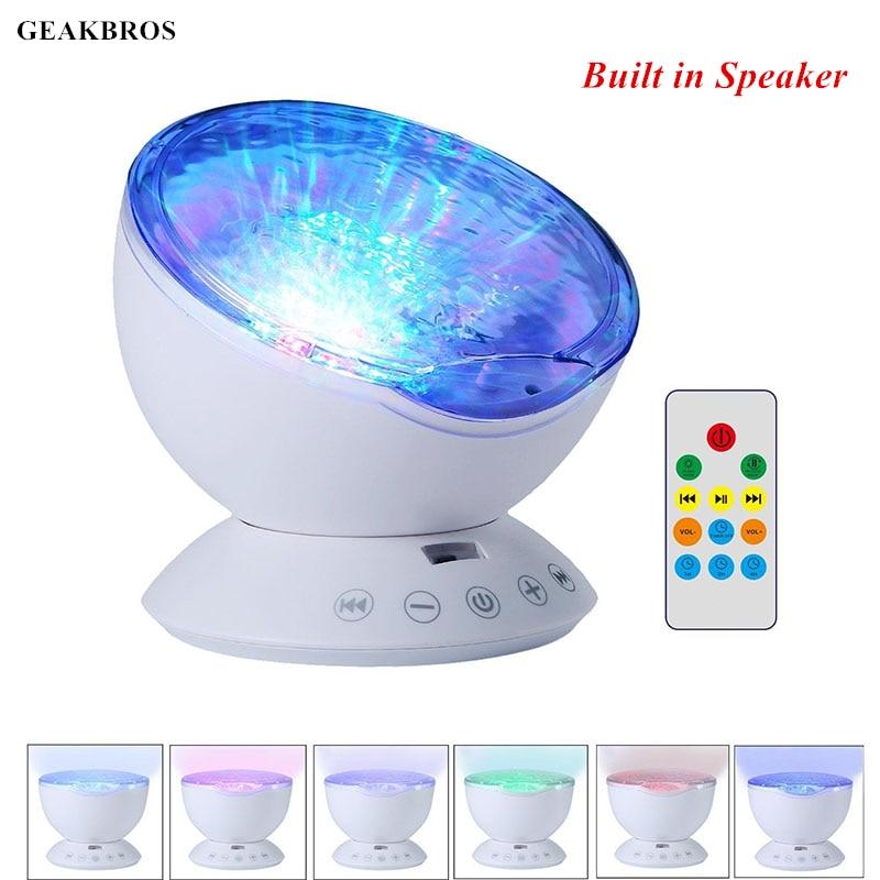 Novelty Luminous Toys Ocean Wave Starry Sky Aurora LED Night Light Projector Lamp USB Nightlight Illusion Baby Sleep Appease