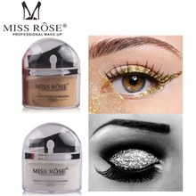 MISS ROSE 2 Colors Glitter Eye Shadow Palette Shimmer Gold Silver Eyeshadow Makeup Waterproof Face Highlighter Powder