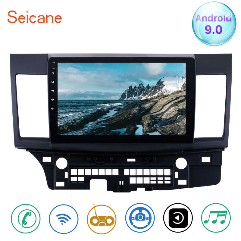 "Seicane Android 9.0 10.1 ""Car Radio Kepala Unit GPS Navigasi Multimedia Player untuk Mitsubishi Lancer-EX 2008 2009 2010 2011-2015"