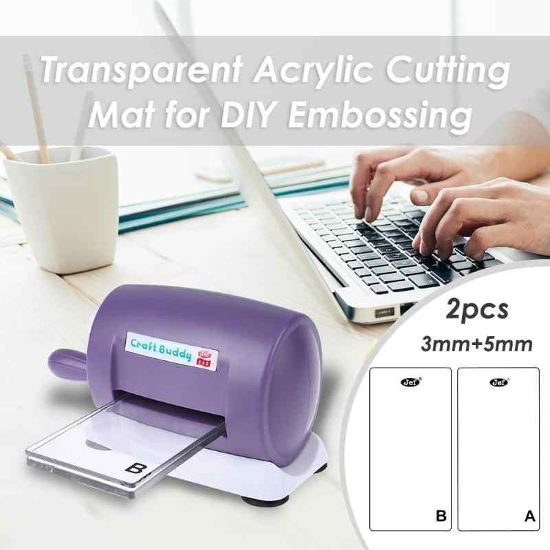 1 pc 3 ミリメートル/5 ミリメートル透明アクリルマシンカットマット透明マット · プレート Diy 切断はプラットフォームアダプタスペーサー