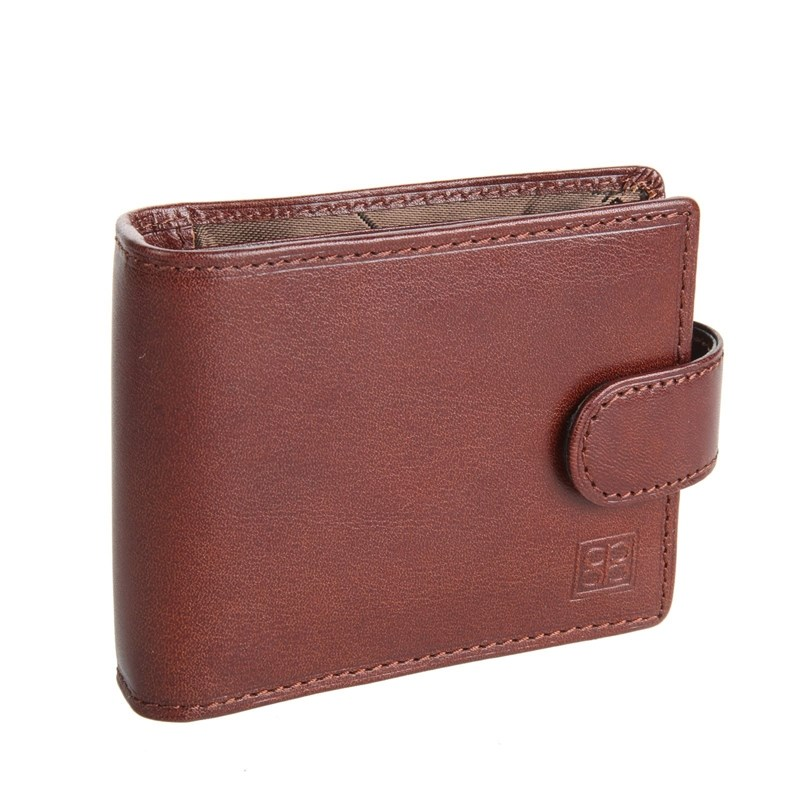 Business Card Holder Segio Belotti 2392 Milano Brown large capacity card holder multifunctional wallet