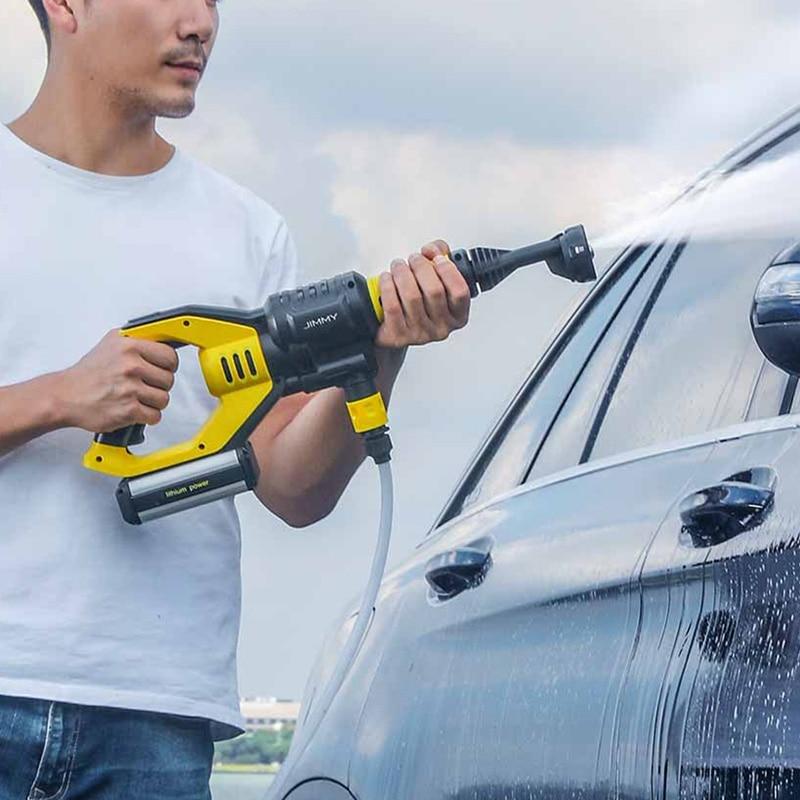 Jimmy JW31 автомобиль высокого давления мощность водяной пистолет давление шайба Беспроводная струя сад Автомобиль Шайба 5 режимов Регулируемы