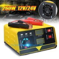 Car Battery Charger 12V 24V Full Automatic Motorcycle Electric 400AH Car Battery Charger Low Noise + Adapter