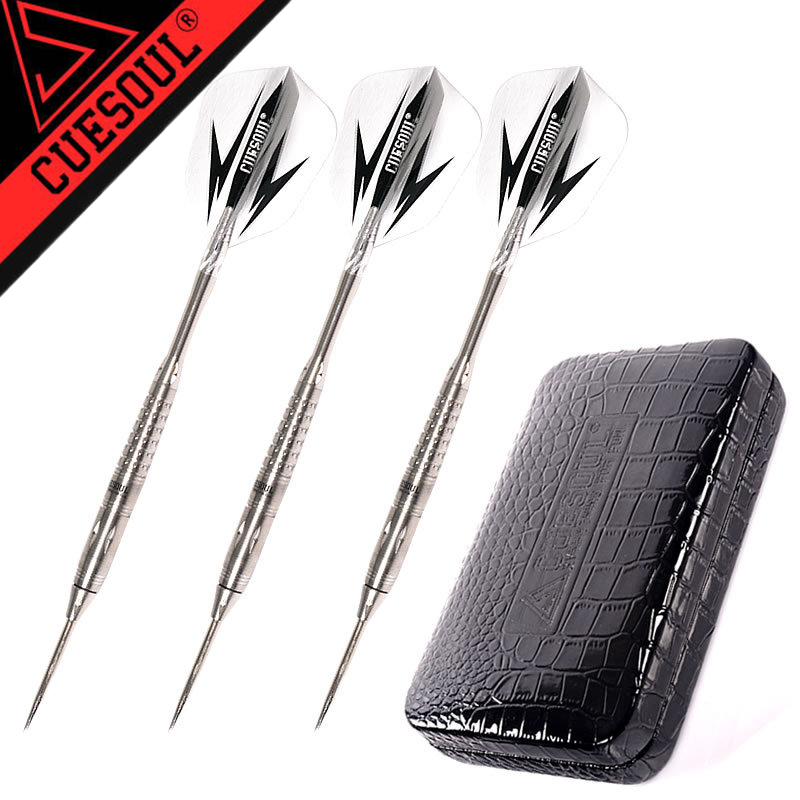 New CUESOUL 3pcs/set 15.5cm 27g Professional 95% Tungsten Steel Tip Darts With Nice Box cuesoul tungsten steel tip darts 3pcs set 23g 145mm with 90