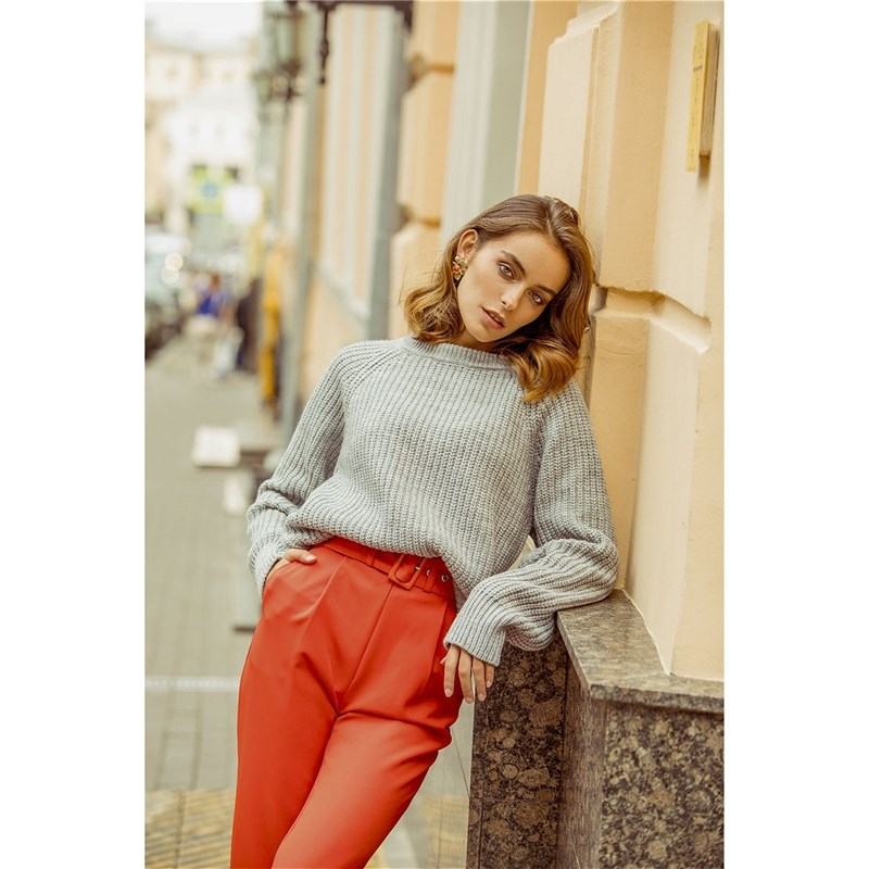 Sweater C.H.I.C. female CHIC TmallFS gradient color chic long sleeves knit sweater