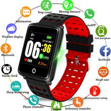 LIGE New Smart bracelet Heart Rate Monitor Watch Men Activity Fitness Tracker sport watch for men Clock IOS Android