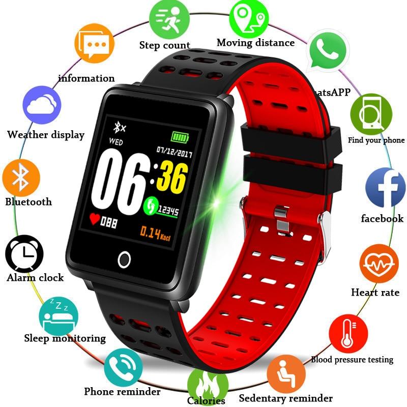 LIGE Novo Smart pulseira Monitor de Freqüência Cardíaca Relógio Inteligente Homens Atividade Rastreador De Fitness esporte relógio para homens Relógio para IOS android