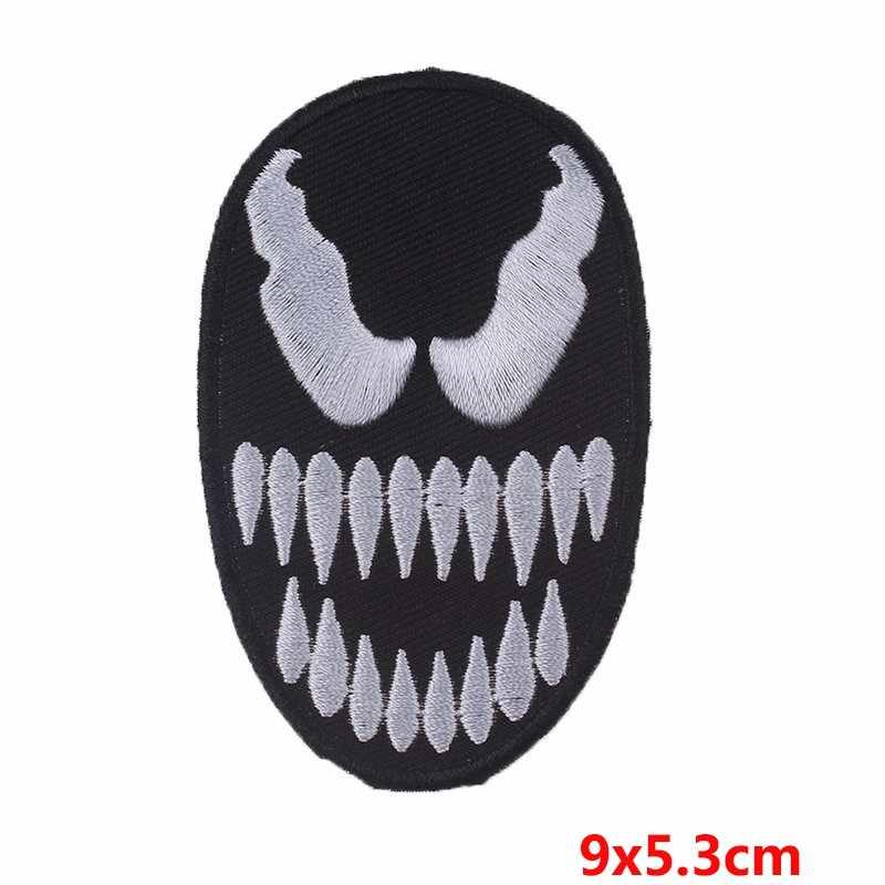 Punk Biker Patch Iron on Patches On Clothes Embroidered Letter Patches For Clothing Rock Skull Patch DIY Applique Clothes Badge