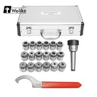 Wolike NEW MT3 Shank With 18Pcs 3 20mm ER32 Collet Chuck Set For CNC Milling Machine Engraving Drilling/Tapping Machine Tools