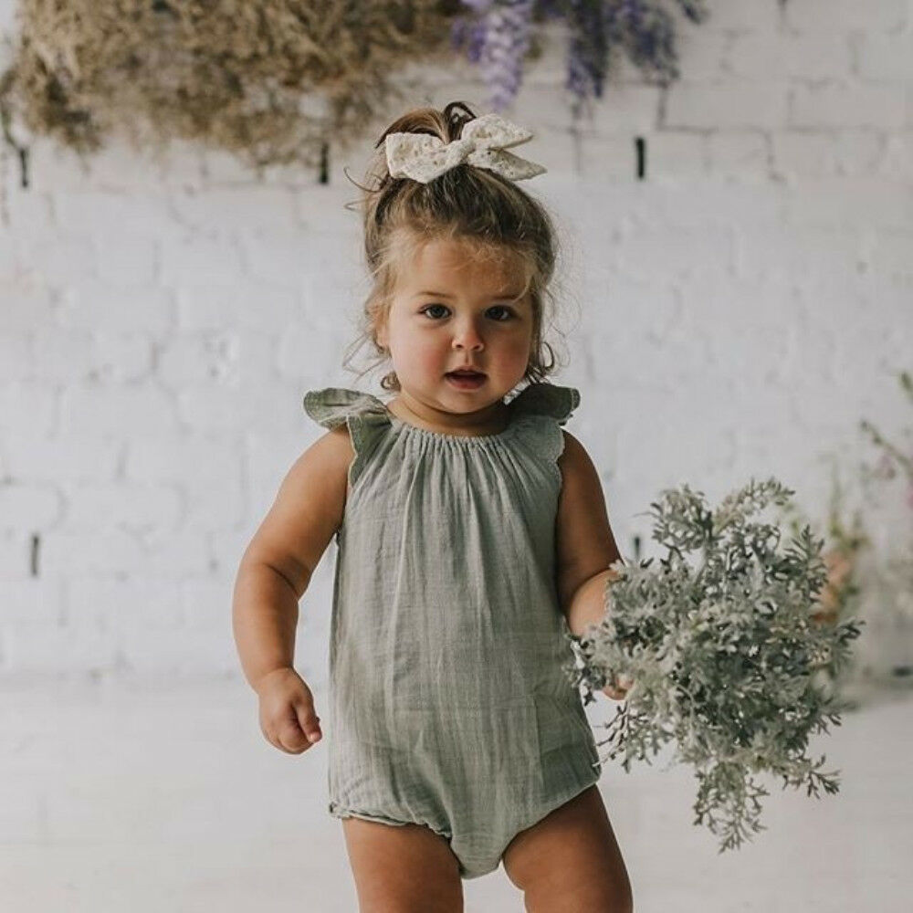 2019 Newest Style Newborn Kid Boys Girls Ruffle Sleeve Adorable   Romper   Baby Jumpsuit Sunsuit Outfits Summer Size 0-18Months